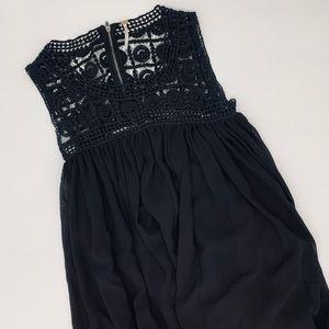 Free People crochet cut-out tent dress